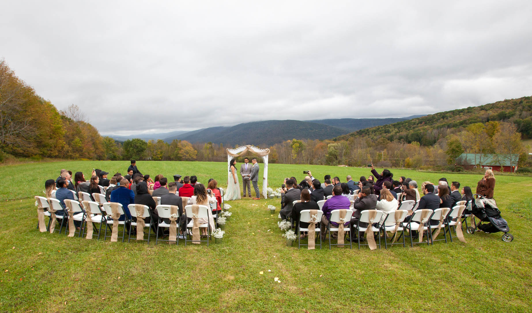Margaretville Barn Wedding Ceremony Field